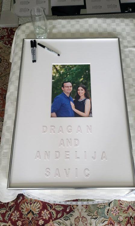 Signature Wedding Mat And Frame