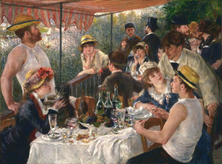 Renoir's amazing painting about a boat party