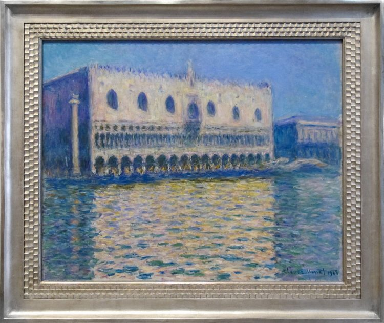More Monet artwork, an oil painting of Venice