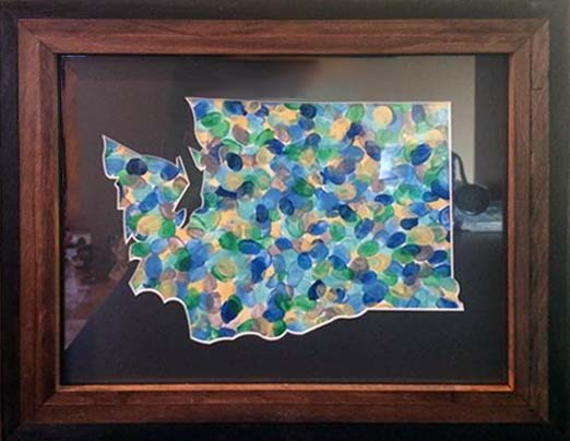 Washington State Custom Matboard Cut Out