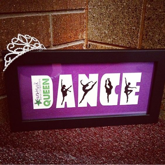 A custom mat and frame made for a dance competetion