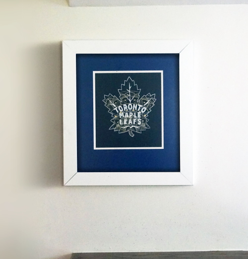 Toronto Maple Leafs logo in White Frame