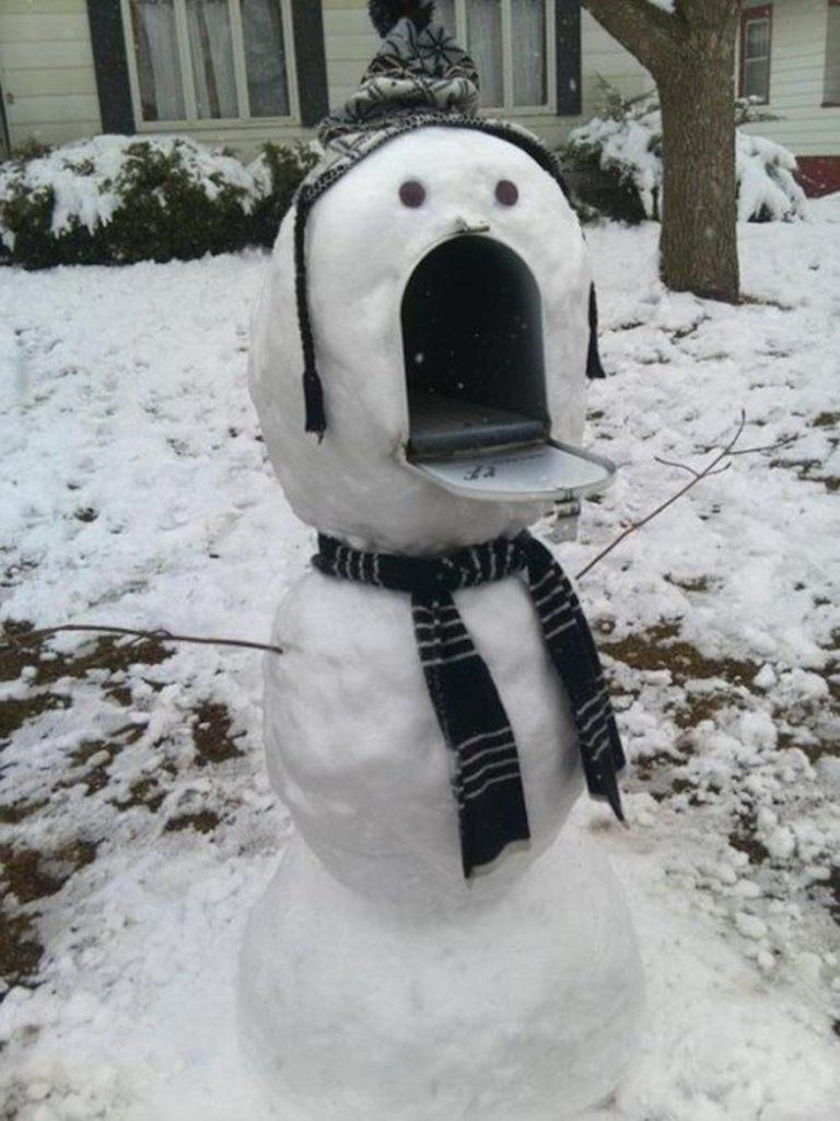 A funny snow photo