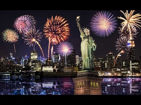 A great photo of the fireworks over New York