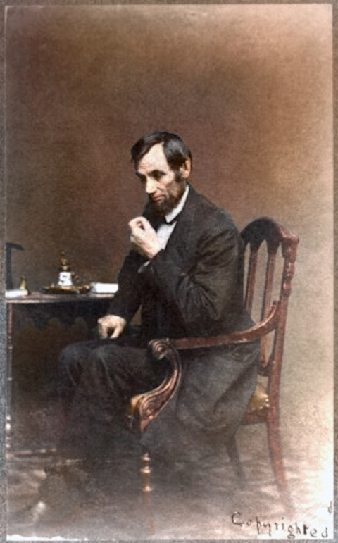 A classic portrait photo of Lincoln