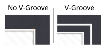 V-Groove on Matboard