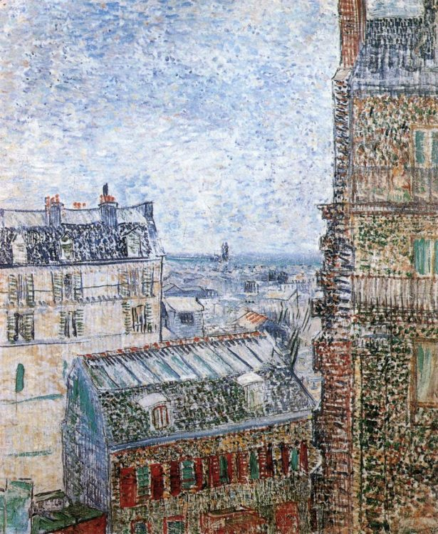 Van Gogh's painting of the Paris skyline