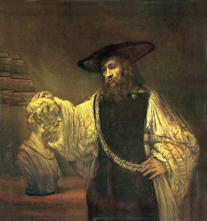 A morbid piece of classic art by Rembrandt that could use a matboard to perk it up