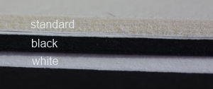 matboard cores, standard black and white