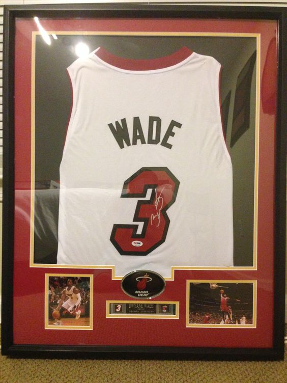 Dwayne Wade Basketball Jersey Matboard And Frame By Nici Matboard
