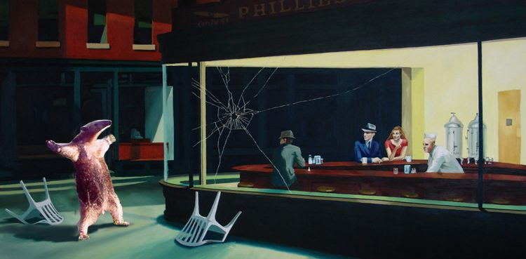 A hilarious Nighthawks homage