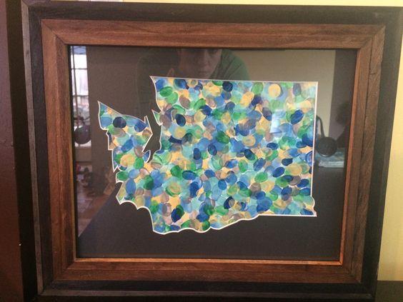 Washington State Custom Matboard Cut Out